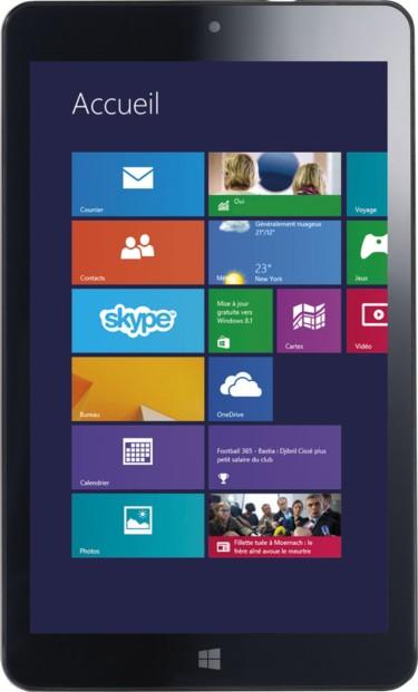Tablette tactile 8'' avec écran IPS et Windows 8.1 Touchlet ''XWi.8''