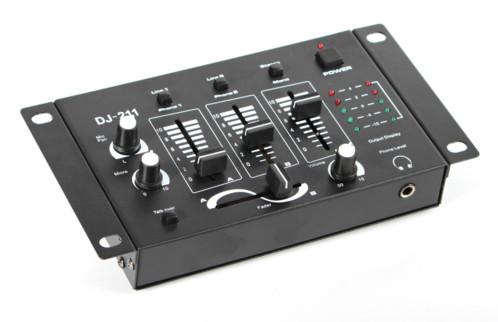 Achat table de mixage 39 dj211 39 noire - Table de mixage professionnel ...