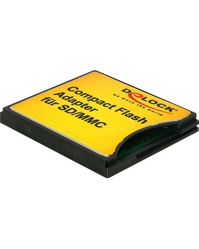 Adaptateur Compact Flash / SD - SDHC - MMC Delock