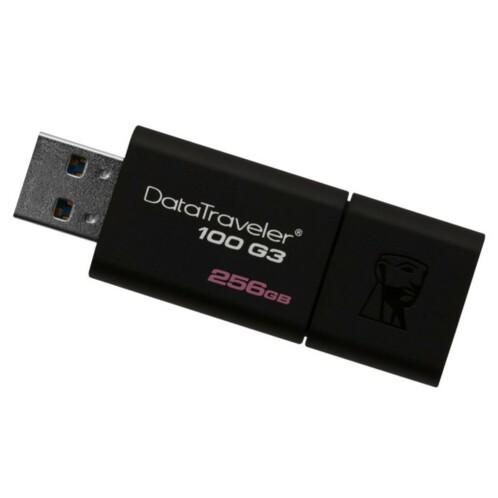 Clé USB 3.0 Kingston DataTraveler 100 G3 de 256 Go.