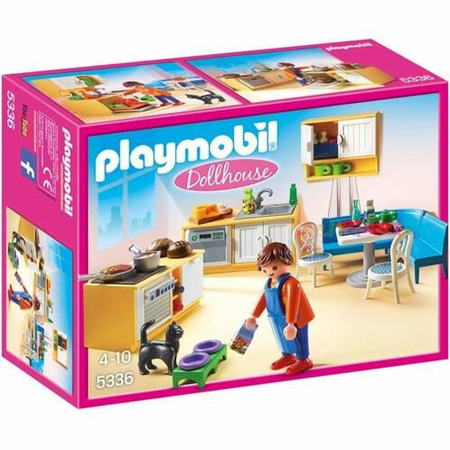 Boîte Playmobil Dollhouse : Cuisine et coin repas n°5336.