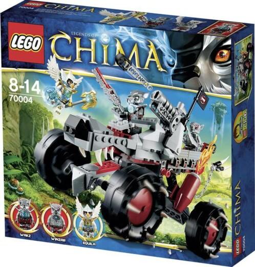 Packaging du Loup tout-terrain de Wakz 70004 par LEGO Chima.