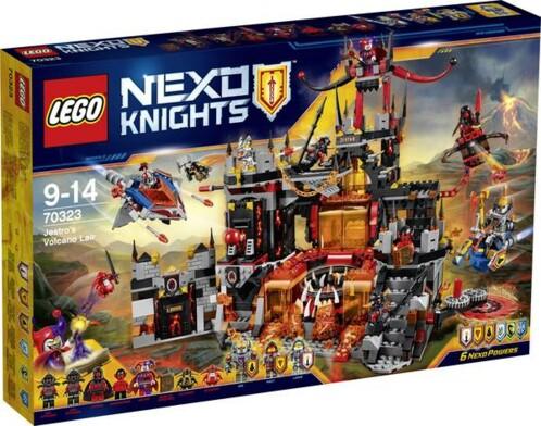 Packaging Le repaire volcanique de Jestro 70323 LEGO Nexo Knights.