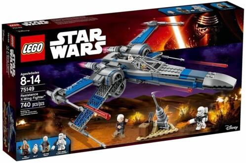 Boîte LEGO Star Wars 75149 : Resistance X-Wing Fighter.