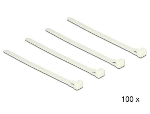 Pack de 100 colliers de serrage réutilisables 200 X 7,2 mm Delock