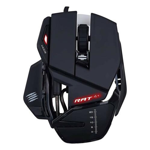 Souris gaming Mad Catz RAT4+ noire.