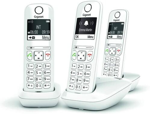 Téléphone fixe AS690 Trio - 3 combinés - Sans répondeur - Blanc