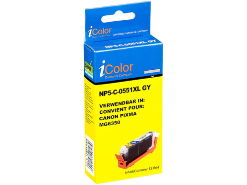 Cartouche compatible Canon CLI-551GY XL - Gris