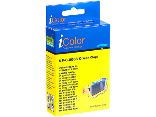 Cartouche I Color compatible Canon cyan avec puce