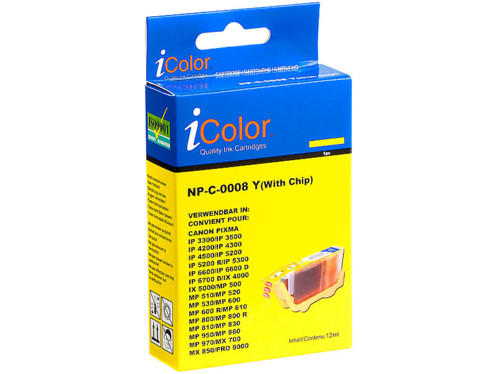 Cartouche I Color compatible Canon jaune avec puce