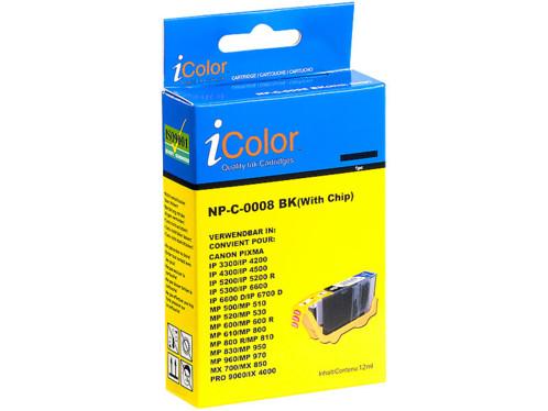 Cartouche I Color compatible Canon noir photo avec puce
