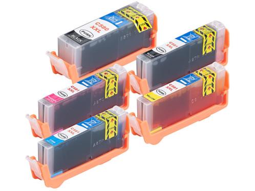 pack de cartouches compatibles canon pgi580 cli581 XXL noir magenta cyan jaune noir pigmenté