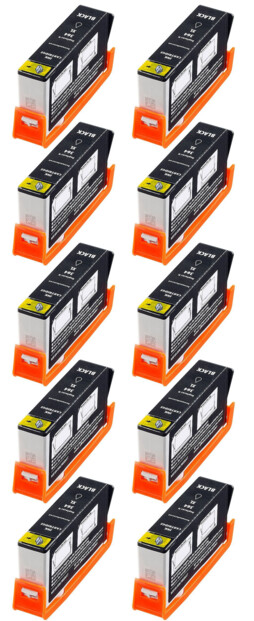10 cartouches compatibles HP N°364 BK NH-R0364 XL - Noir