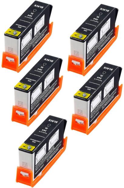 5 cartouches compatibles HP N°364 BK NH-R0364 XL - Noir