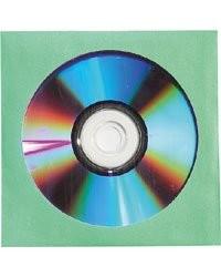 20 Pochettes vertes papier fenêtre pour CD / DVD