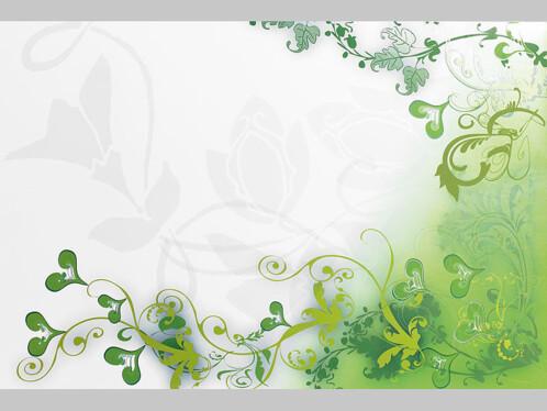 Décoration adhésive motif floral vert