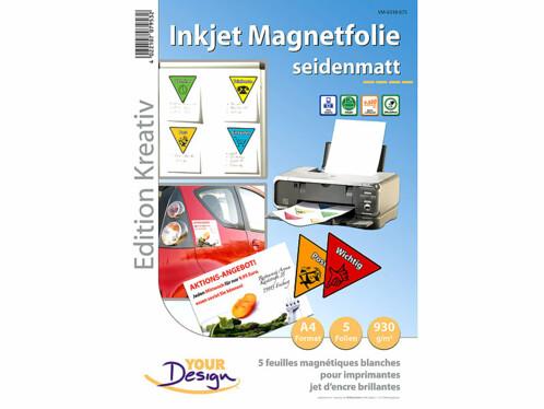 Papier A4 magnétique mat - 4 feuilles