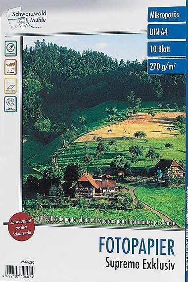 10 feuilles papier photo supérieur brillant A4 - 270 G