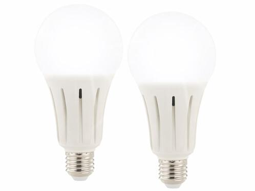 Deux ampoules LED E27 avec une capacité de 23 Watts et une luminosité de 2452 lumens.