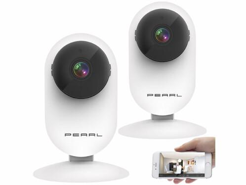 Deux caméras IP sans fil connectées IPC-220.HD Pearl.