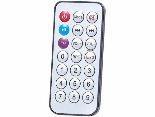 mini chaîne hifi bluetooth portable avec radio fm lecteur mp3 et prise micro jack 6,35 mm auvisio