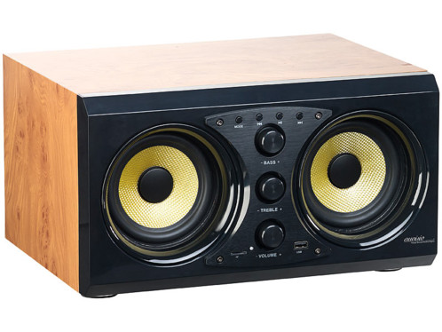 enceinte stereo 60w auvisio msx400 avec bluetooth 30w lecteur micro sd clé usb design bois pour salon