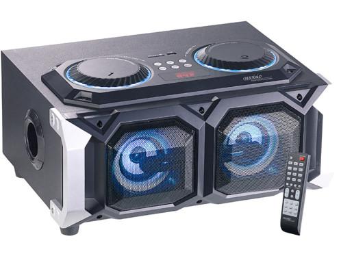 Enceinte stéréo pour karaoké avec 2 entrées micro fonction écho radio fm lecture usb sd bluetooth pma-1000 auvisio