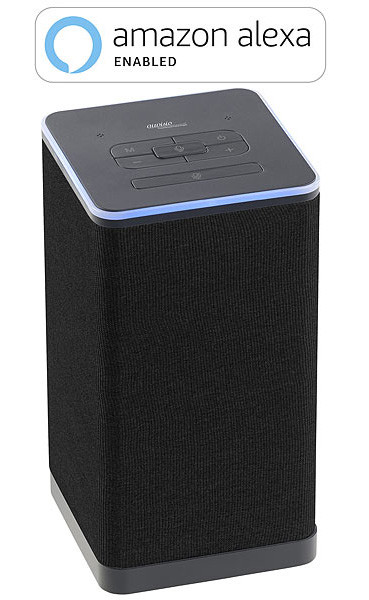 enceinte stereo bluetooth compatible alexa avec diffusion multiroom et commandes vocales echo auvisio qas-400
