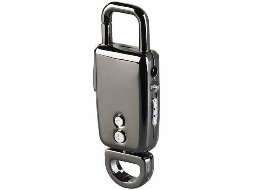mini dictaphone enregistreur vocal audio design porte clé avec batterie intégrée et mode vox enregistrement automatique