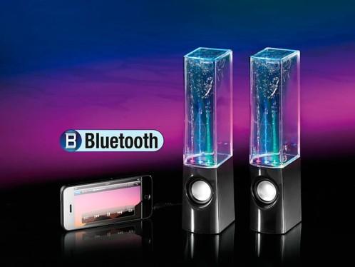 Haut-parleurs Bluetooth avec jeux d'eau et effets lumineux