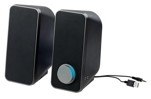 pack de 2 mini enceintes audio msx-180 auvisio stereo 24W