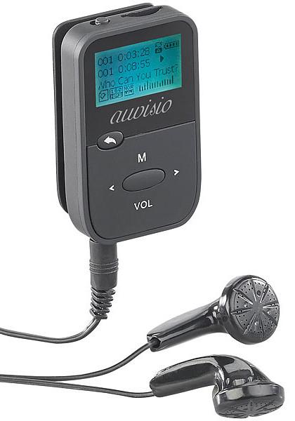 mini lecteur mp3 de poche avec ecran noir mémoire extensible carte sd et clip ceinture pour sport dmp190