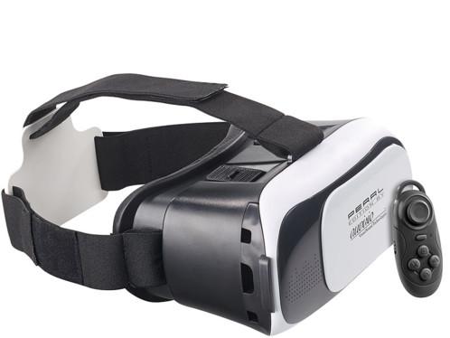 lunettes de réalité virtuelle pour smartphones Auvisio vrb58 avec manette de jeux bluetooth