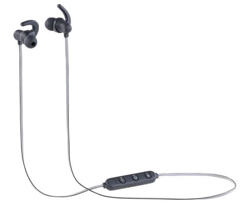paire ecouteurs in ear avec tour d'oreille sans fil bluetooth avec mini telcommande auvisio ihs-400