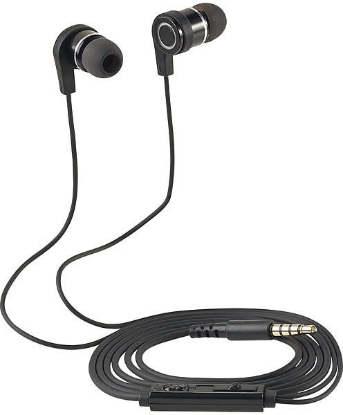 ecouteurs intra auriculaires auvisio ihs-570 avec commandes et micro pour mains libres
