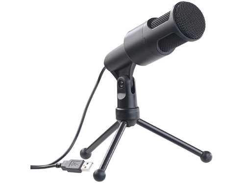 """Microphone à condensateur USB """"MC-200.usb"""" hautes performances"""