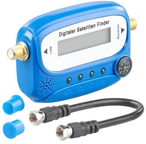 pointeur satellite numerique avec boussole et cable fiche f esosat