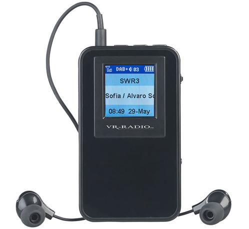 mini radio de poche avec reception analogique fm et numerique dab+ dor310 vr radio