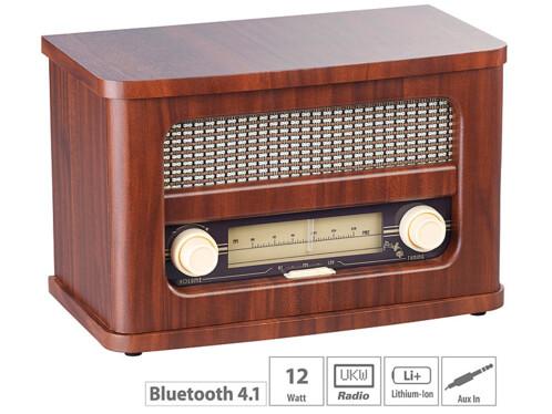 Radio FM rétro nomade avec bluetooth MPS-570