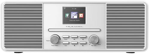 Radio Internet stéréo 20W avec lecteur CD/DAB+/FM/bluetooth IRS-680 - Blanc