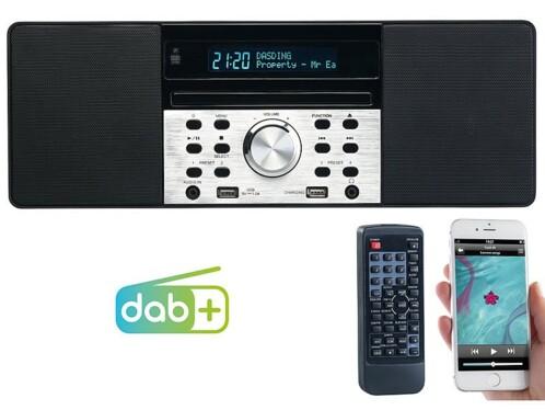 Radio numérique DAB+/FM & lecteur CD avec fonctions bluetooth et chargement USB DOR-600