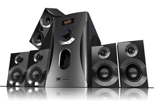 Système audio home cinema Surround 5.1 avec radio / MP3 - Noir