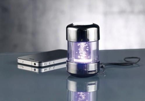Système audio nomade ''MSS-250.tube.bt'' avec effets lumineux RVB et bluetooth