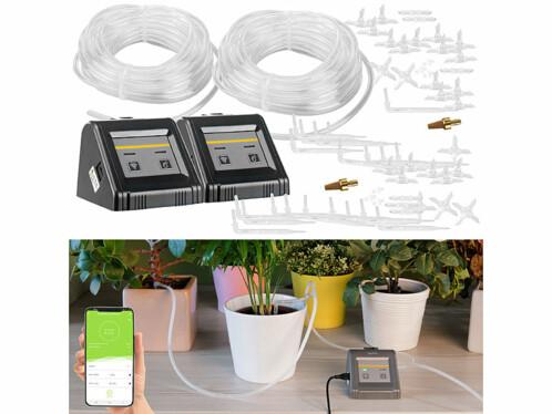 2 sytèmes d'irrigation automatiques connectés pour plantes d'intérieur