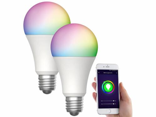 2 ampoules LED connectées E27/ 9 W / RVB / CCT LAV-150.rgbw - x2