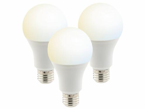 3 ampoules LED connectées E27 / 10 W / A+ - Blanc