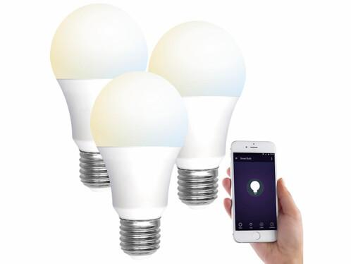 3 ampoules LED connectées E27/ 9W/ 2700– 6500K/ CCT LAV-110.w