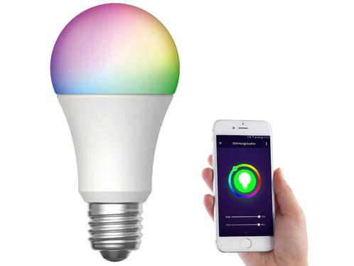 Ampoule LED LAV-170.rgbw connectée par application mobile.