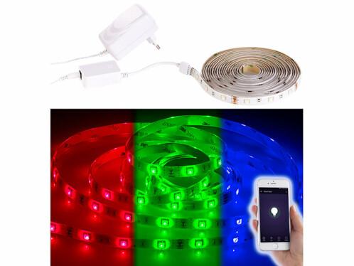Bande LED LAC-515 - 5 m RVB - Avec accessoires