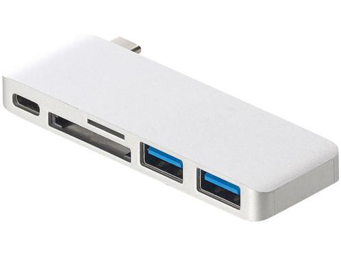 Hub USB-C pour MacBook avec USB 3.0 et cartes SD / Micro SD